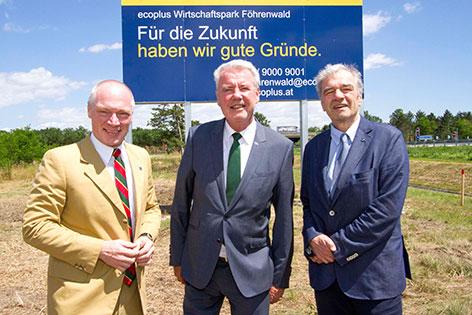 Helmut Miernicki ecoplus Klaus Schneeberger Gerhard Schmid Wirtschaftspark Wr. Neustadt