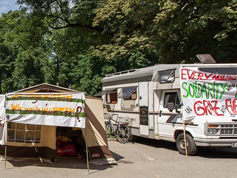 Camp Flüchtlinge Graz Refugee