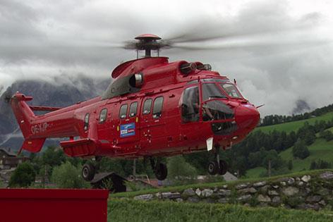Super Puma von Heli Austria im Landeanflug