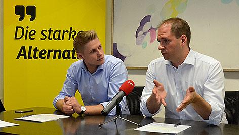 Patrik Fazekas und Christian Sagartz
