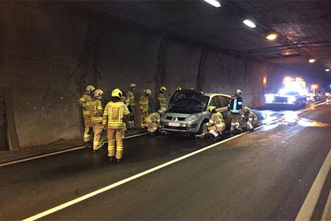 Felbertauerntunnel nach Autobrand gesperrt
