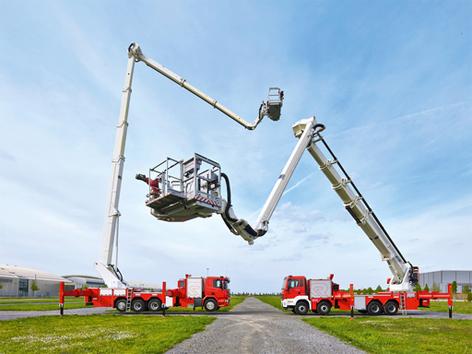 Rettungsbühne Hubbühne Rosenbauer