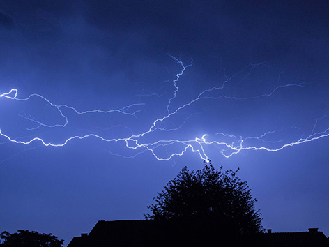 Blitze Gewitter Unwetter