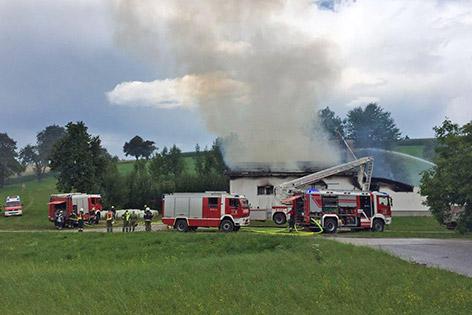 Brand auf einem Bauernhof