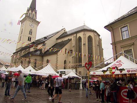 Sicherheit Großveranstaltungen Kirchtag Villach Hauptplatz