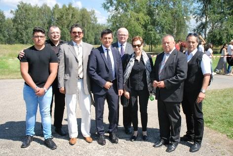 Österreichische Delegation in Auschwitz 2016