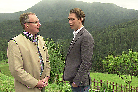 Stephan Pernkopf und Sebastian Kurz