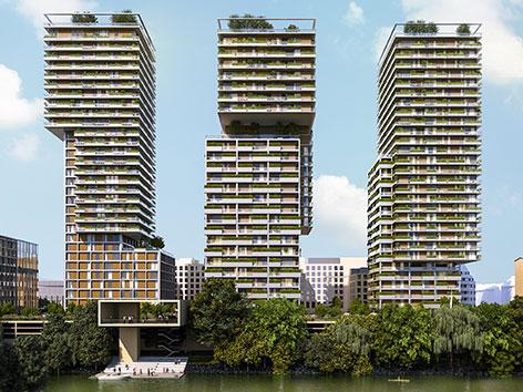 Projekt TrIIIple am Donaukanal