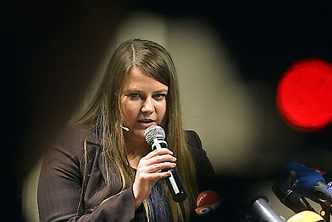 Natascha Kampusch bei Buchpräsentation
