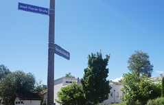 Gestohlene Straßenschilder der Thorakstraße wieder erneuert