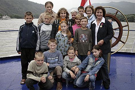 Kinder aus Weißrussland auf Urlaub in Niederösterreich