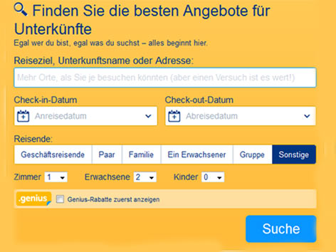 Booking.com Buchungsplattform