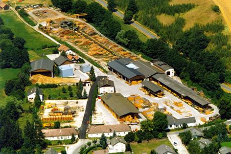 Luftaufnahme des Sägewerkes aus dem Jahr 1994