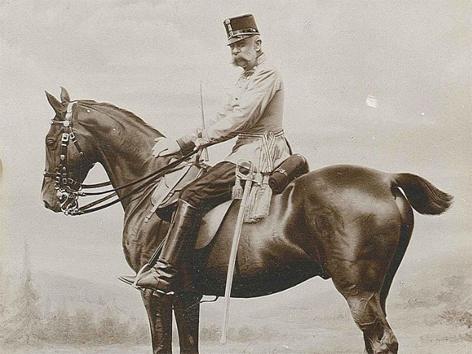 Kaiser Franz Joseph 1898 zu Pferd