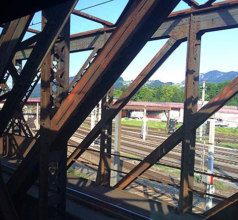 Wienerdamm Brücke ÖBB Eisenbahnbrücke