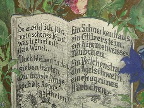 Günter Brus, Ausstellung, Gedicht, Märchenwelt