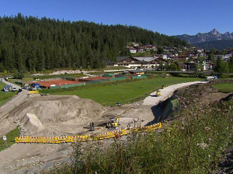 Seefeld Ski WM Bauarbeiten