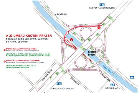 Knoten Prater Sperre 9. September