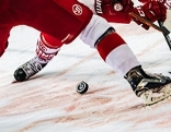 Bully bei Eishockey Spiel
