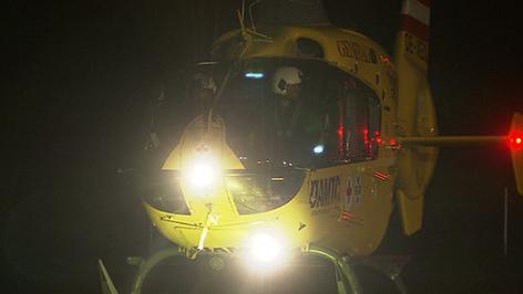 Nachtflugtraining des Notarzthubschraubers Christophorus 16