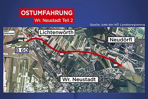 Umfahrung Plan Wiener Neustadt