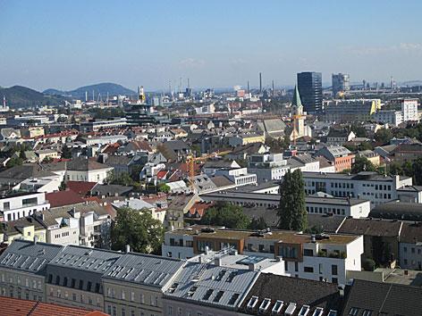 Linz Stadtansicht Richtung Südost