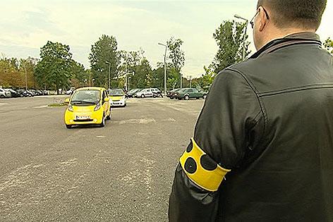 Blinder und Elektroauto