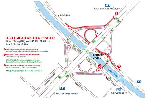 Knoten Prater Sperre 30. September