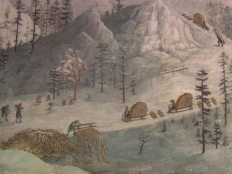 Wandmalerei Pfarrhof Josefsberg Ötscher