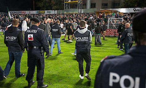 Ausschreitungen der Fans bei Wattens-Heimsieg gegen Wacker Innsbruck