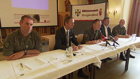 Pressekonferenz in der Martinkaserne in Eisenstadt