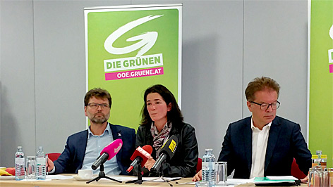 Gottfried Hirz, Maria Buchmayr, Rudi Anschober