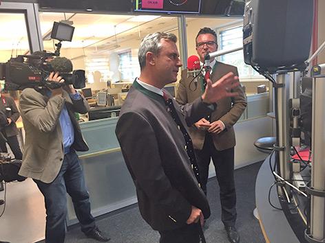 Besuch Landesstudio Norbert Hofer Alexander Van der Bellen