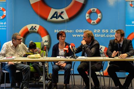 PK im Fall Nadina, Familie Strobl, AK-Präsident Zangerl, RA Juen