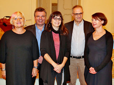 Die Jury, v.l.: Ingeborg Sperl, Thomas Baum, Karin Peschka, Anton Thuswaldner, Lydia Mischkulnig