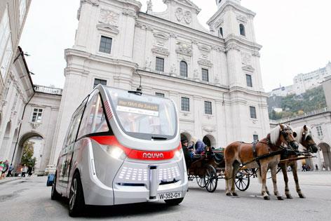 Selbstfahrender Mini-Bus wird in Salzburg getestet