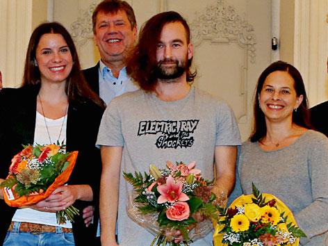 Die Sieger, v.l.: Didi Drobna, Wilfried Steiner, Stephan Roiss, Anna Baar