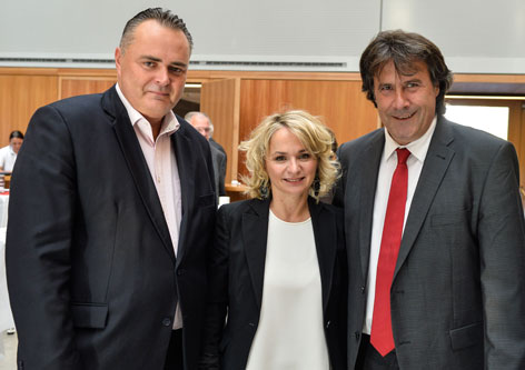 Hans Peter Doskozil, Elisabeth Blanik und Ingo Mayr