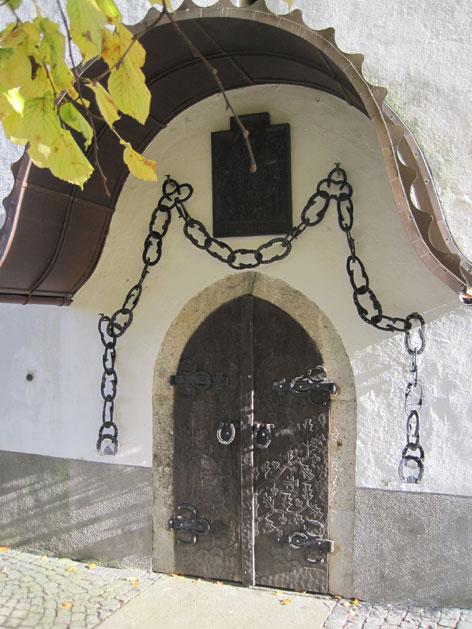 Kirchentüre in Desselbrunn