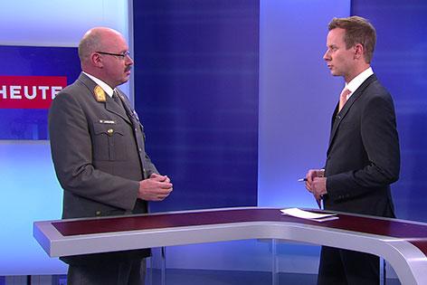 Militärkommandant Martin Jawurek und Thomas Birgfellner