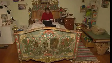 historisches Kinderzimmer im Forsthaus