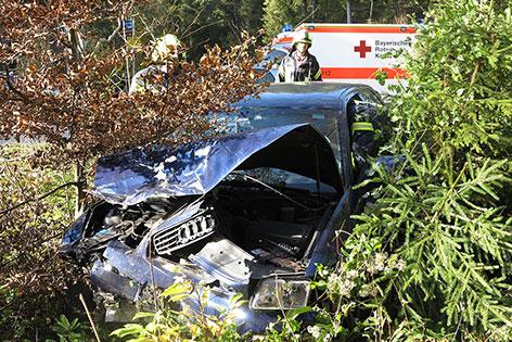 Autowrack nach Unfall