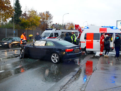 Verkehrsunfall Rosentalerstraße Klagenfurt