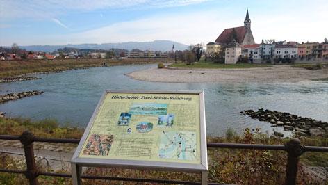 Zwei Staedte Rundwanderung Oberndorf Laufen