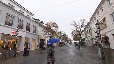 Kaufkraft, Fußgängerzone Eisenstadt