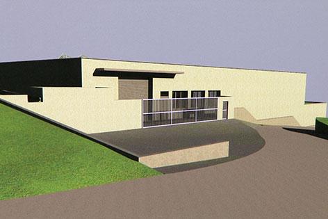 Modell des neuen Depots des Museums der  Moderne Salzburg
