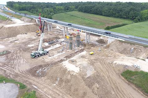 A5 Nordautobahn Schrick Poysdorf Bauarbeiten