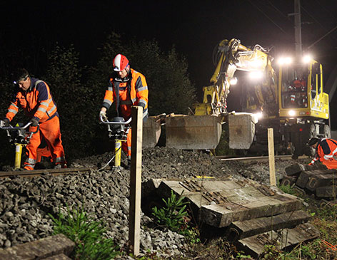 Montafonerbahn Bauarbeiten