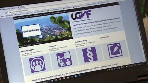 Homepage des UGVF