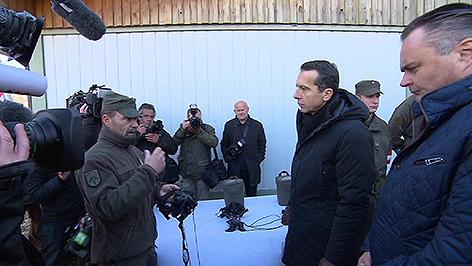 Kern und Doskozil Kaserne Bruckneudorf Besuch